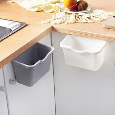 kitchen sink cabinet doors manfiter small trash can hanging waste bin kitchen sink plastic wastebasket cabinet door with top ring to fix garbage bag