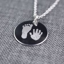 footprint necklace personalized engraved baby footprint heart necklace actual baby footprints