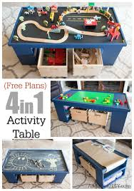 step 2 plastic train table free plans build a diy 4 in 1 activity table playrooms
