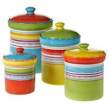 colorful kitchen canisters sets ceramic kitchen canister sets ebay