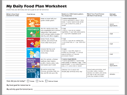 daily food plans u0026 worksheets nutritionist clinic