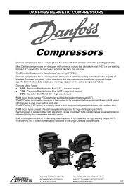 danfoss recip compressors
