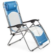 guide gear deluxe zero gravity reclining lounge chair blue