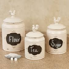 kitchen canisters antique rooster chalkboard kitchen canister set also kitchen