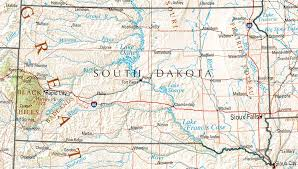 map south dakota south dakota maps perry castañeda map collection ut library