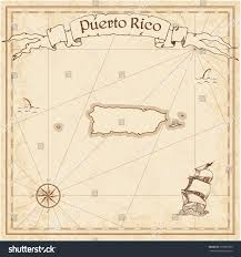 Map Of Puerto Rico Puerto Rico Old Treasure Map Sepia Stock Vector 370933763