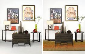 la z boy dining room sets accessories with and without an area rug by la z boy furniture