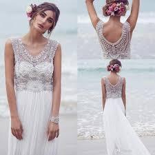 bohemian custom made anna campbell 2016 wedding dresses beading