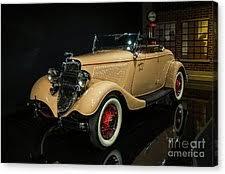 1934 ford greyhound ornament canvas prints america