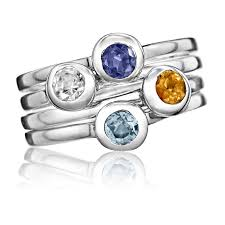stackable birthstone ring stella stacking birthstone rings estate rings mothers rings