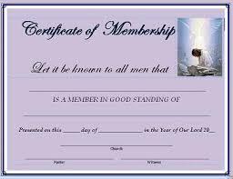 Certification Letter Of Membership Sle New Member Certificate Template 28 Images Membership