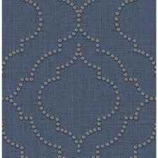 blue quatrefoil wallpaper chesapeake 56 4 sq ft chelsea blue quatrefoil wallpaper 3114