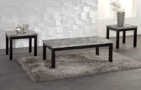 faux marble coffee table 3 piece black gray faux marble coffee table set by bernards home