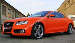 audi orange color 3m foil for audi a5 8t color orange matte tuning sport com