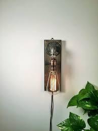 Edison Bulb Wall Sconce Astonishing Edison Bulb Wall Sconce Industrial Wall Sconce With
