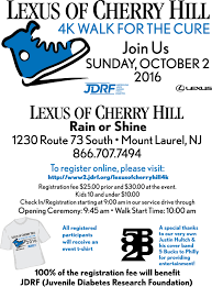 lexus of cherry hill nj lexus of cherry hill 4k walk for the cure to benefit jdrf