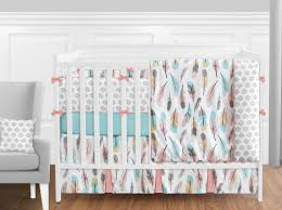 teal crib bedding set pink and gold crib bedding wayfair