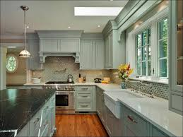 Color Wash Walls - kitchen gray wood cabinets light gray cabinets grey kitchen
