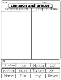 common and proper nouns matching worksheet free on tpt 2nd