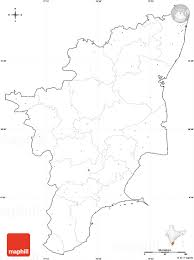 India Blank Outline Map by Blank Simple Map Of Tamil Nadu Cropped Outside No Labels