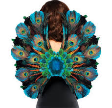 peacock fan peacock feather fan and accessory party city