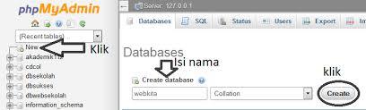 membuat database akademik dengan mysql cara membuat koneksi database php mysql dengan dreamweaver burung
