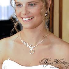 parure mariage pas cher collier mariage original création bijoux volutes le collier