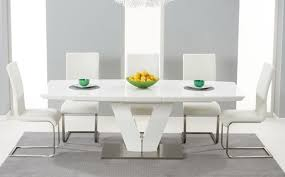 High Gloss Dining Table Sets Great Furniture Trading Company - Black and white dining table with chairs