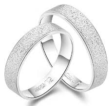 white gold wedding rings couples wedding band set ring 925 sterling silver classic