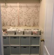 a nursery closet complete with tempaper chinosierie by customer