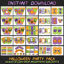 halloween party packs happy halloween party pack instant download printable trick or