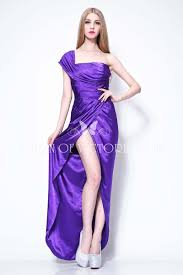 purple satin one shoulder megan fox red carpet celebrity prom