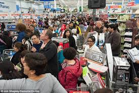 black friday target crowds black friday sales figures in run up to thanksgiving are up by a