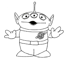 toy story alien colouring pages alltoys