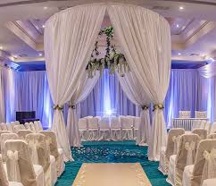 ceiling draping backdrops and draping the wedding room