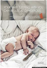 Baby Sleep Meme - milwaukee co sleeping ad of baby with knife aims to warn parents