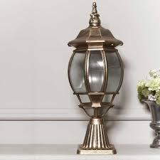 Antique Outdoor Lights by Top Grade Retro Outdoor Pillar Lamp Fence Post Cap Pillar Lamps