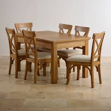 dining room sets with fabric chairs taunton rustic solid brushed oak dining set 4ft 7 extending