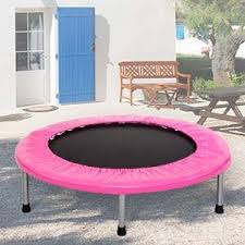 Mini Trampoline With Handrail Amazon Com Merax 36