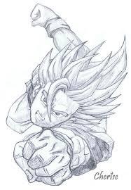 dbz goku sketch by cherise75 on deviantart