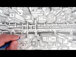 how to draw a city using one point perspective a bird u0027s eye view