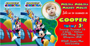 mickey mouse clubhouse birthday invitation template u2013 diabetesmang