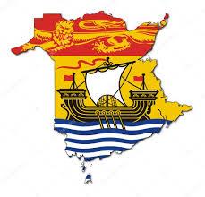 New Brunswick Canada Map Detailed by New Brunswick Map Flag U2014 Stock Photo Speedfighter17 5146460