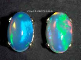 opal earrings stud opal jewelry