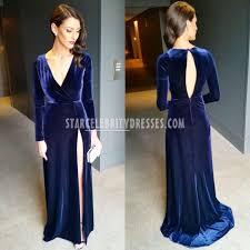 anthea pellow brownlow medal 2015 long navy long sleeve prom dress