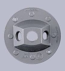 outdoor flood light socket holder plate for mounting 1 or 2