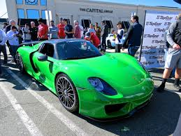 green porsche a mean green porsche 918 at cars and caffe mind over motor
