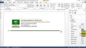 membuat kop surat organisasi cara cepat membuat kop surat di microsoft word youtube
