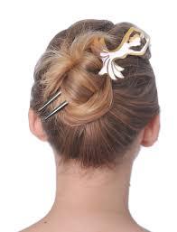 hair fork white light shade ballerina hair fork marycrafts