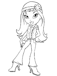 bratz girls coloring pages coloring blog